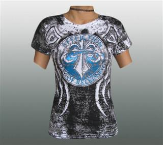 AFFLICTION DAMEN SHIRT Gr. L / XL #200