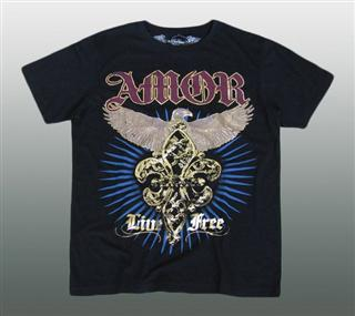 AFFLICTION SHIRT MIT STRASS Gr. L #024D