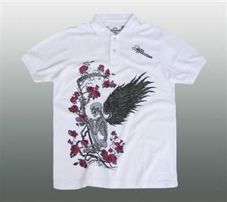 AFFLICTION POLO SHIRT Gr. L #036-1