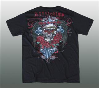 AFFLICTION SHIRT MIT STRASS Gr. L #028-1D