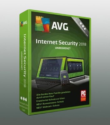 AVG INTERNET SECURITY 2018 UNLIMITED 2Jahre
