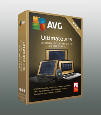 AVG ULTIMATE UNLIMITED 2018 1Jahr